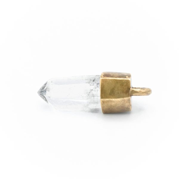 white quartz quartz talisman necklace