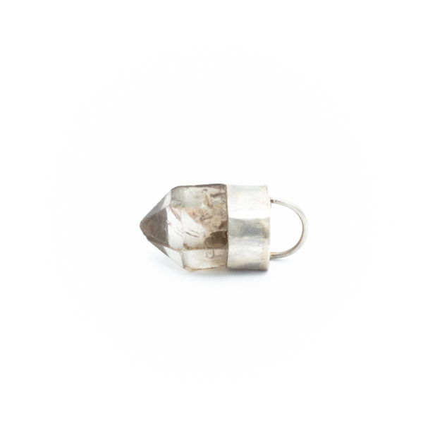 smoky quartz crystal pendant talisman necklace jewelry handmade